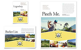 Golf Resort - Flyer & Ad Template