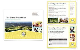 Golf Resort - PowerPoint Presentation Sample Template