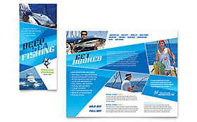 Fishing Charter & Guide - Apple iWork Pages Brochure Template