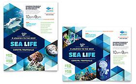 Ocean Aquarium - Poster Template