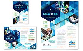 Ocean Aquarium - Flyer & Ad Template