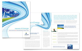 Renewable Energy Consulting - Brochure Template Design Sample