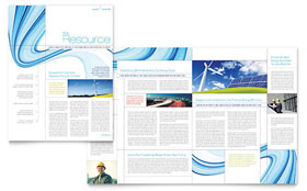 Renewable Energy Consulting - Newsletter Template Design Sample