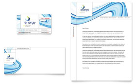 Renewable Energy Consulting - Business Card & Letterhead Template Design Sample