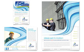 Renewable Energy Consulting - Flyer & Ad Template Design Sample