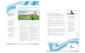 Renewable Energy Consulting - Datasheet Template Design Sample