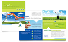 Green Living & Recycling - Brochure Template Design Sample
