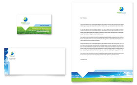 Green Living & Recycling - Business Card Sample Template
