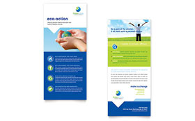 Green Living & Recycling - Rack Card Template Design Sample