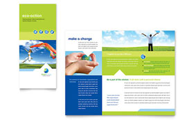 Green Living & Recycling - Print Design Tri Fold Brochure Template