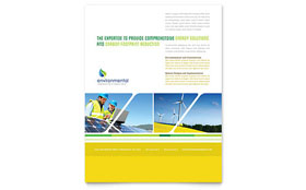 Environmental Conservation - Flyer Template Design Sample
