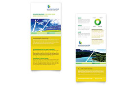 Environmental Conservation - Rack Card Template Design Sample