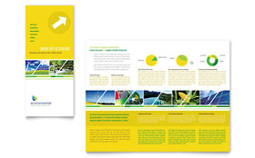 Environmental Conservation - Tri Fold Brochure Template Design Sample