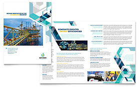 Oil & Gas Company - Apple iWork Pages Brochure Template