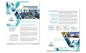 Oil & Gas Company - Sales Sheet Sample Template