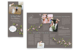 Wedding Planner - Tri Fold Brochure Sample Template