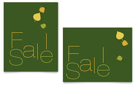 Falling Leaves - Sale Poster Template Design Sample