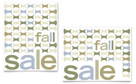 Geometric Fall Color - Poster Sample Template