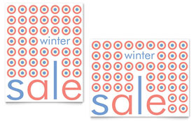 Geometric Winter Color - Sale Poster Template Design Sample