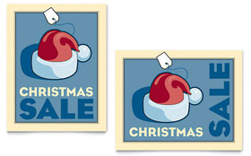 Christmas Santa - Sale Poster Template