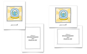 World Snowglobe - Greeting Card Template