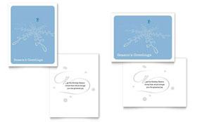 Ice Skating - Greeting Card Template