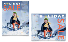 Child Sledding - Sale Poster