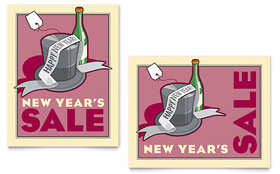 New Year's Champagne - Poster Template