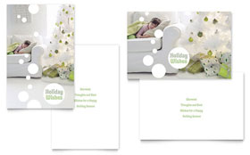 Christmas Dreams - Greeting Card Sample Template