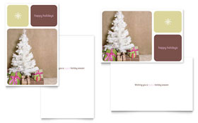 Contemporary Christmas - Greeting Card Sample Template