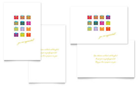 Christmas Presents - Greeting Card Sample Template