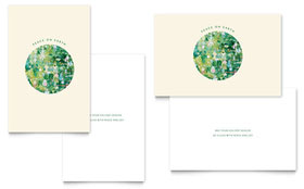 Peace On Earth - Greeting Card Template