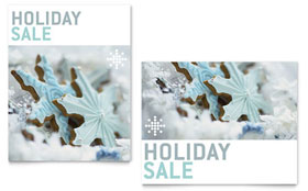 Snowflake Cookies - Sale Poster Template Design Sample