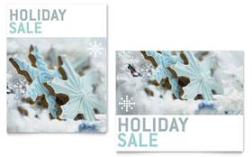 Snowflake Cookies - Sale Poster Template