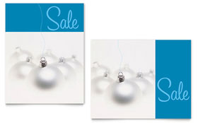 Silver Ornaments - Poster Template