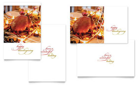 Happy Thanksgiving - Greeting Card Sample Template