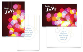 Holiday Lights - Greeting Card Template
