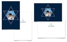 Star of David - Greeting Card Sample Template