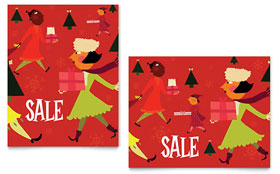 Holiday Shoppers - Poster Template