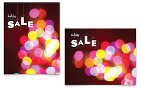 Holiday Lights - Sale Poster