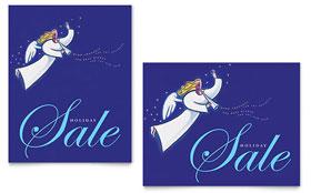 Christmas Angel - Poster Sample Template