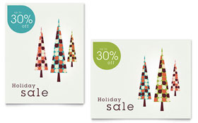 Modern Holiday Trees - Sale Poster