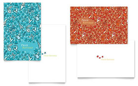 Christmas Confetti - Greeting Card Template