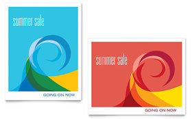 Summer Waves - Sale Poster Template