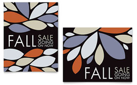 Contemporary Leaves - Sale Poster Template