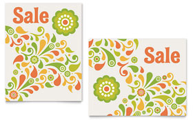 Spring Color Floral - Poster Sample Template