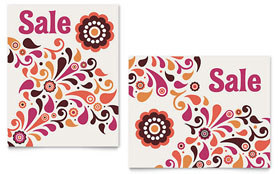 Fall Color Floral - Poster Sample Template