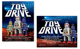 Holiday Toy Drive Fundraiser - Poster Template