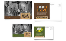 Holiday Food Drive Fundraiser - Postcard Template
