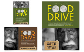 Holiday Food Drive Fundraiser - Print Ad Template